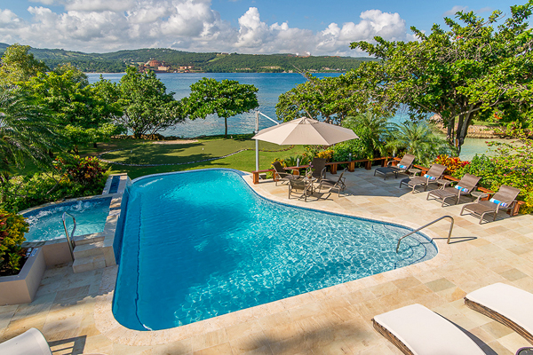 Villa Pool at Villa VL FPB (Fortlands Point on the Beach) at Jamaica, Discovery Bay, Family-Friendly Villa, Pool, 7 Bedrooms, 8 Bathrooms, WiFi, WIMCO Villas
