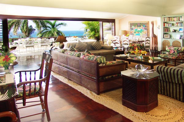 Living Room at Villa VL FTC (Fairwinds at the Tryall Club) at Jamaica, Montego Bay, Family-Friendly Villa, Pool, 4 Bedrooms, 4 Bathrooms, WiFi, WIMCO Villas