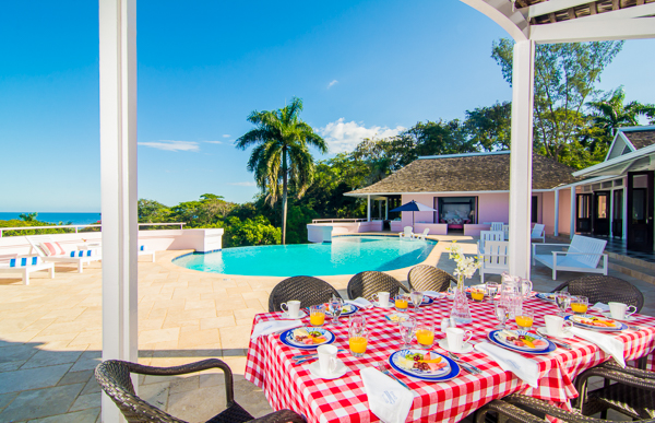 Veranda at Villa VL GRH (Great River House) at Jamaica, Montego Bay, Family-Friendly Villa, Pool, 5 Bedrooms, 6 Bathrooms, WiFi, WIMCO Villas