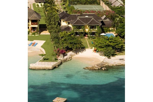 Aerial photo of Villa VL KWB (Keela Wee on the Beach) at Jamaica, Discovery Bay, Family-Friendly Villa, Pool, 6 Bedrooms, 6 Bathrooms, WiFi, WIMCO Villas
