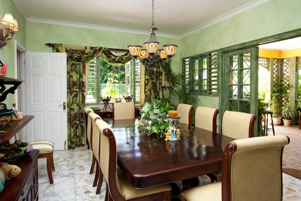 Dining Room at Villa VL KWB (Keela Wee on the Beach) at Jamaica, Discovery Bay, Family-Friendly Villa, Pool, 6 Bedrooms, 6 Bathrooms, WiFi, WIMCO Villas