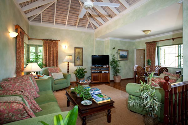 Living Room at Villa VL KWB (Keela Wee on the Beach) at Jamaica, Discovery Bay, Family-Friendly Villa, Pool, 6 Bedrooms, 6 Bathrooms, WiFi, WIMCO Villas