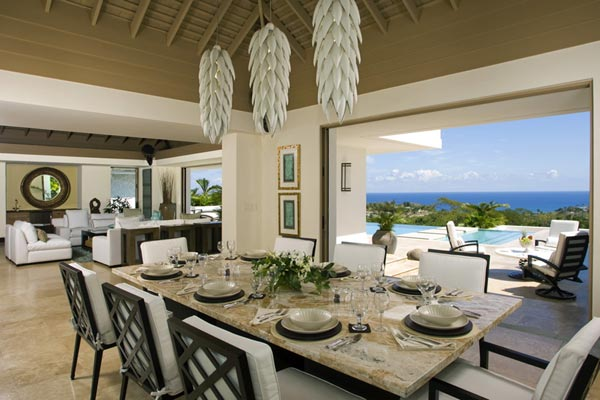 Dining Room at Villa VL LTC (Lolita at the Tryall Club) at Jamaica, Montego Bay, Family-Friendly Villa, Pool, 5 Bedrooms, 5 Bathrooms, WiFi, WIMCO Villas