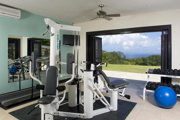 Gym at Villa VL LTC (Lolita at the Tryall Club) at Jamaica, Montego Bay, Family-Friendly Villa, Pool, 5 Bedrooms, 5 Bathrooms, WiFi, WIMCO Villas