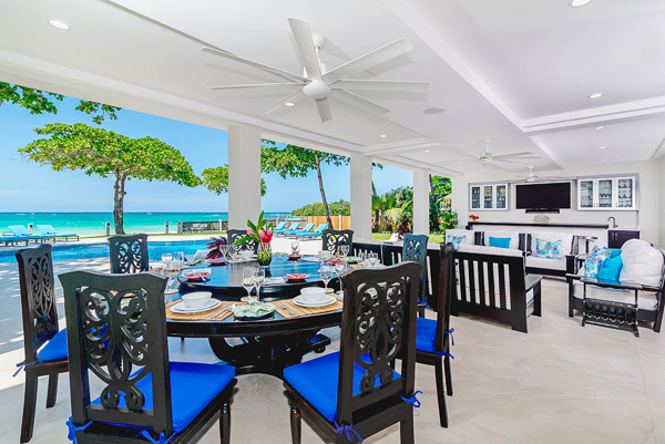 Dining Room at Villa VL MAL (Malatai on the Beach) at Jamaica, Ocho Rios, Family-Friendly Villa, Pool, 6 Bedrooms, 6 Bathrooms, WiFi, WIMCO Villas