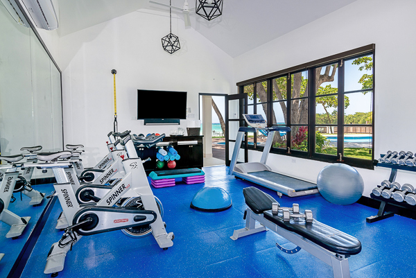 Gym at Villa VL MAL (Malatai on the Beach) at Jamaica, Ocho Rios, Family-Friendly Villa, Pool, 6 Bedrooms, 6 Bathrooms, WiFi, WIMCO Villas