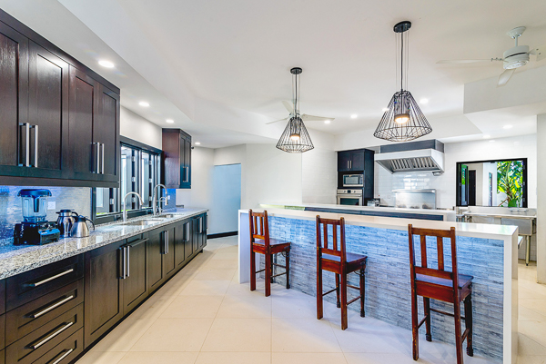 Kitchen at Villa VL MAL (Malatai on the Beach) at Jamaica, Ocho Rios, Family-Friendly Villa, Pool, 6 Bedrooms, 6 Bathrooms, WiFi, WIMCO Villas