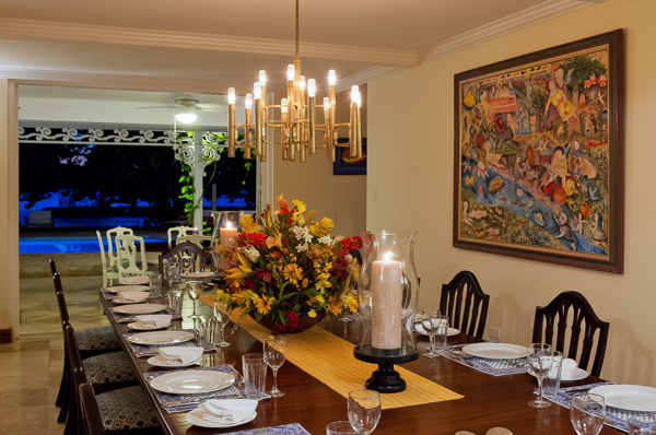 Dining Room at Villa VL SUM (A Summer Place on the Beach) at Jamaica, Montego Bay, Family-Friendly Villa, Pool, 7 Bedrooms, 9 Bathrooms, WiFi, WIMCO Villas