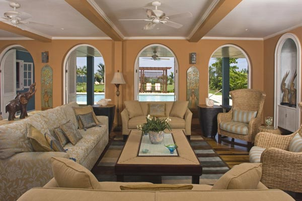 Living Room at Villa VL SWB (Sweet Spot on the Beach) at Jamaica, Runaway Bay, Family-Friendly Villa, Pool, 6 Bedrooms, 6 Bathrooms, WiFi, WIMCO Villas