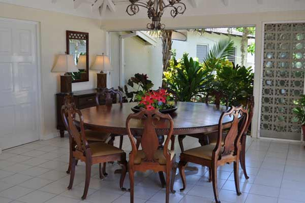Dining Room at Villa VL TTC (Tradewinds at the Tryall Club) at Jamaica, Montego Bay, Family-Friendly Villa, Pool, 4 Bedrooms, 4 Bathrooms, WiFi, WIMCO Villas