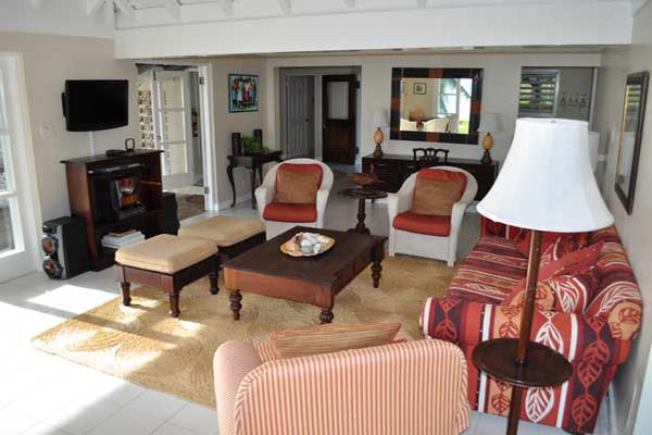 Living Room at Villa VL TTC (Tradewinds at the Tryall Club) at Jamaica, Montego Bay, Family-Friendly Villa, Pool, 4 Bedrooms, 4 Bathrooms, WiFi, WIMCO Villas