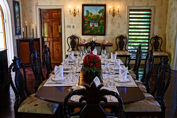 Dining Room at Villa VL WTC (Windrush at the Tryall Club) at Jamaica, Montego Bay, Pool, 6 Bedrooms, 6 Bathrooms, WiFi, WIMCO Villas