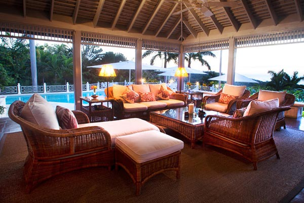 Veranda at Villa VL WTC (Windrush at the Tryall Club) at Jamaica, Montego Bay, Pool, 6 Bedrooms, 6 Bathrooms, WiFi, WIMCO Villas