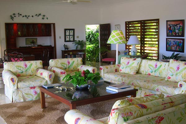 Living Room at Villa VL YTC (Yellow Bird at the Tryall Club) at Jamaica, Montego Bay, Family-Friendly Villa, Pool, 4 Bedrooms, 4 Bathrooms, WiFi, WIMCO Villas