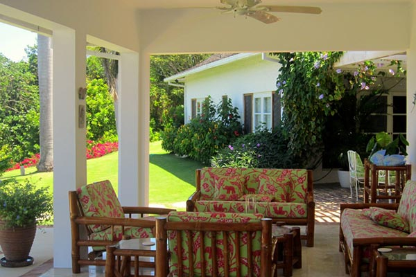 Veranda at Villa VL YTC (Yellow Bird at the Tryall Club) at Jamaica, Montego Bay, Family-Friendly Villa, Pool, 4 Bedrooms, 4 Bathrooms, WiFi, WIMCO Villas