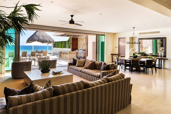Living Room at Villa LSV SER (Serena) at Mexico, Cabo San Lucas, Family-Friendly Villa, Pool, 5 Bedrooms, 5 Bathrooms, WiFi, WIMCO Villas