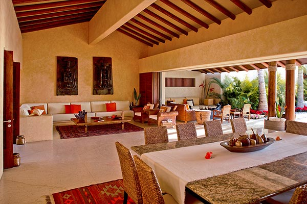 Dining Room at Villa MEX AGU (Agua) at Mexico, Punta Mita, Family-Friendly Villa, Pool, 5 Bedrooms, 6 Bathrooms, WiFi, WIMCO Villas