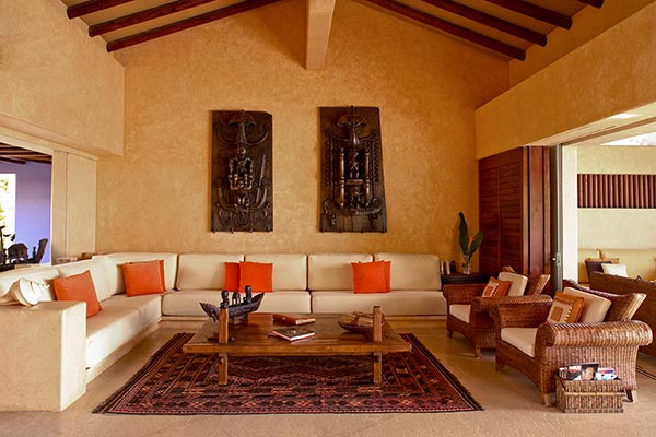Living Room at Villa MEX AGU (Agua) at Mexico, Punta Mita, Family-Friendly Villa, Pool, 5 Bedrooms, 6 Bathrooms, WiFi, WIMCO Villas