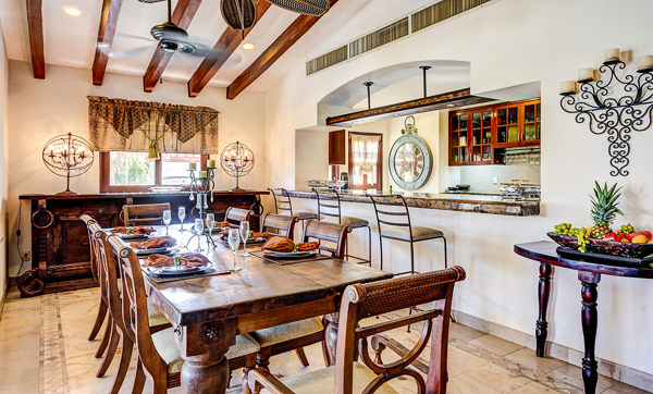 Dining Room at Villa ML2 VDM (Villa Del Mar) at Mexico, Playa Del Carmen, Family-Friendly Villa, Pool, 5 Bedrooms, 4 Bathrooms, WiFi, WIMCO Villas