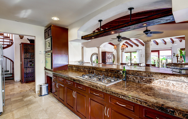 Kitchen at Villa ML2 VDM (Villa Del Mar) at Mexico, Playa Del Carmen, Family-Friendly Villa, Pool, 5 Bedrooms, 4 Bathrooms, WiFi, WIMCO Villas