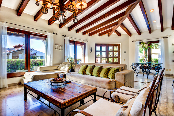 Living Room at Villa ML2 VDM (Villa Del Mar) at Mexico, Playa Del Carmen, Family-Friendly Villa, Pool, 5 Bedrooms, 4 Bathrooms, WiFi, WIMCO Villas
