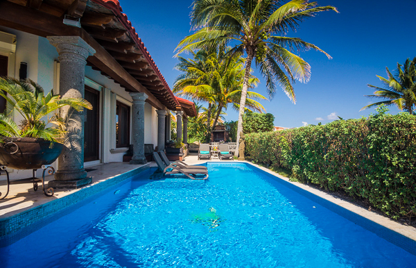 Villa Pool at Villa ML2 VDM (Villa Del Mar) at Mexico, Playa Del Carmen, Family-Friendly Villa, Pool, 5 Bedrooms, 4 Bathrooms, WiFi, WIMCO Villas