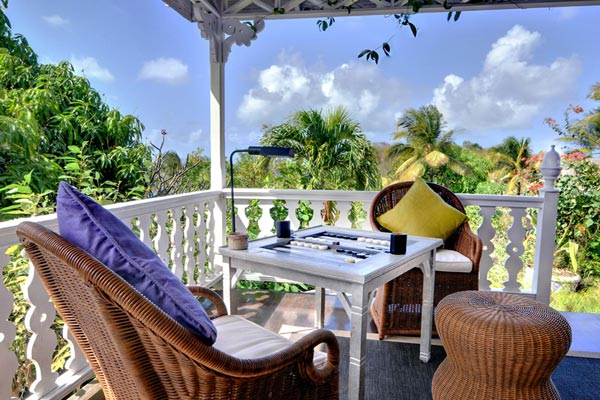Terrace at Villa MV GIN (Gingerbread) at Mustique, Direct Beach Access, Family-Friendly Villa, Pool, 6 Bedrooms, 6 Bathrooms, WiFi, WIMCO Villas