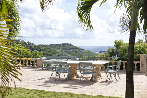 Terrace at Villa MV HBS (Hibiscus) at Mustique, Hillside, Family-Friendly Villa, Pool, 5 Bedrooms, 5 Bathrooms, WiFi, WIMCO Villas