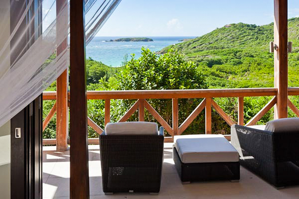 The view from Villa MV MBH (Macaroni Beach House) at Mustique, Hillside, Family-Friendly Villa, Pool, 3 Bedrooms, 3 Bathrooms, WiFi, WIMCO Villas