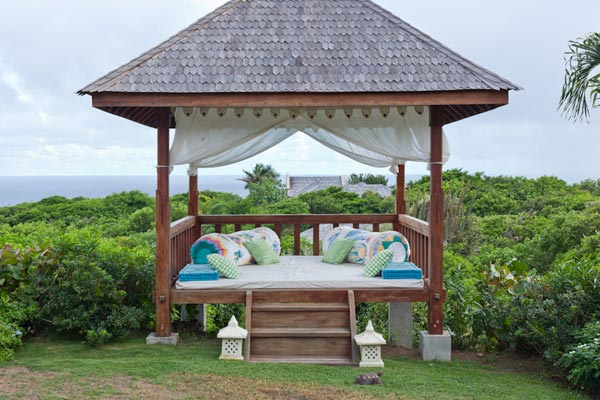 Gazebo at Villa MV SAL (Salamander) at Mustique, Hillside, Family-Friendly Villa, Pool, 4 Bedrooms, 4 Bathrooms, WiFi, WIMCO Villas