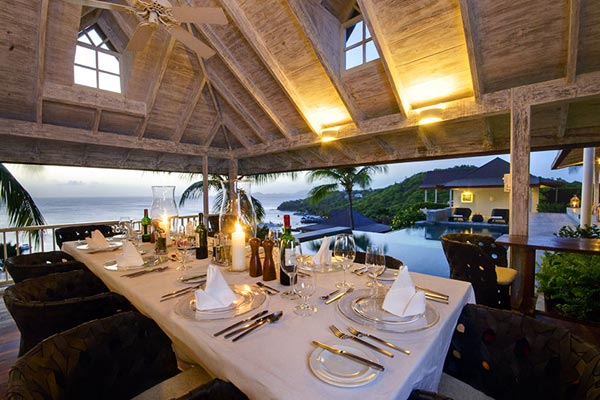 Dining Room at Villa MV TOR (Tortuga) at Mustique, Hillside, Family-Friendly Villa, Pool, 5 Bedrooms, 5 Bathrooms, WiFi, WIMCO Villas