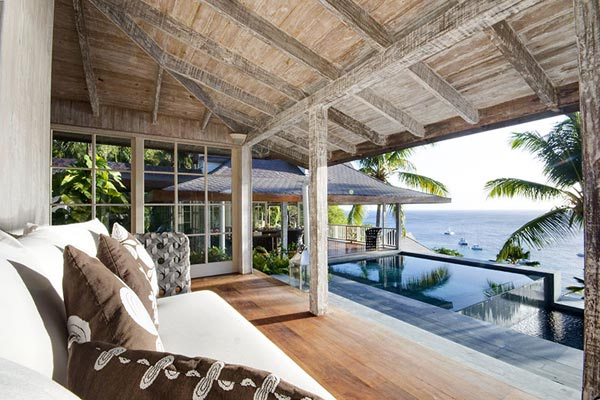Veranda at Villa MV TOR (Tortuga) at Mustique, Hillside, Family-Friendly Villa, Pool, 5 Bedrooms, 5 Bathrooms, WiFi, WIMCO Villas