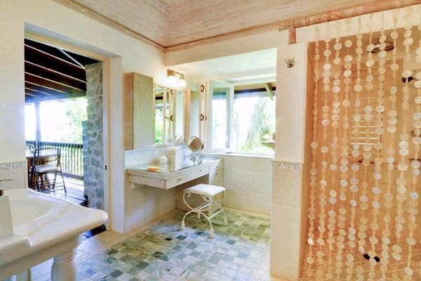 Bathroom at Villa MV YEM (Yemanja) at Mustique, Hillside, Family-Friendly Villa, Pool, 8 Bedrooms, 8 Bathrooms, WiFi, WIMCO Villas