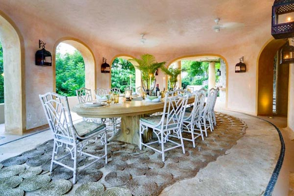 Dining Room at Villa MV YEM (Yemanja) at Mustique, Hillside, Family-Friendly Villa, Pool, 8 Bedrooms, 8 Bathrooms, WiFi, WIMCO Villas