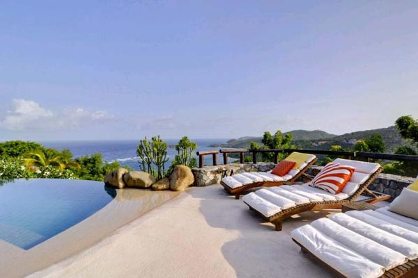Terrace at Villa MV YEM (Yemanja) at Mustique, Hillside, Family-Friendly Villa, Pool, 8 Bedrooms, 8 Bathrooms, WiFi, WIMCO Villas