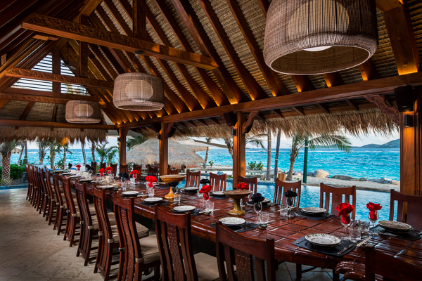 Dining Room at WIMCO Villa NEC GRH (Great House at Necker Island) at Necker Island, Necker
