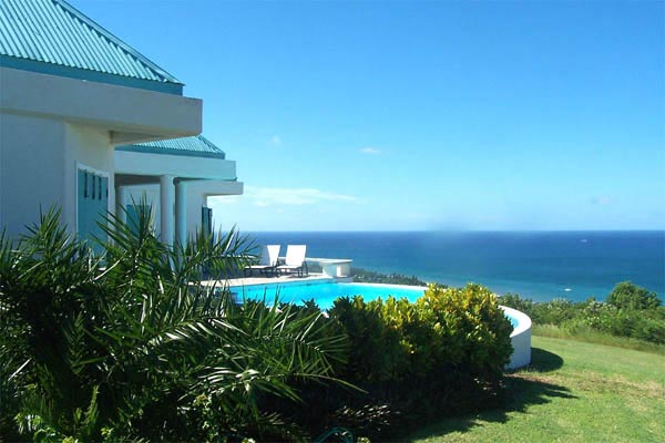 The view from Villa WA CAS (Castelet) at Nevis, Hillside/Oualie Beach, Pool, 4 Bedrooms, 4 Bathrooms, WiFi, WIMCO Villas