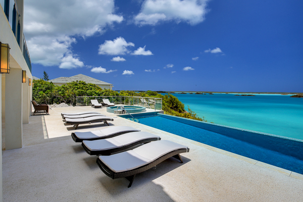 The view from WIMCO Villa IE ALT (Alta Bella) at Chalk Sound/Taylors, Turks & Caicos