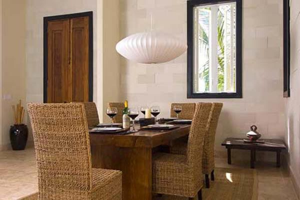 Dining Room at Villa IE BAL (Balinese) at Turks & Caicos, Turtle Tail, Family-Friendly Villa, Pool, 3 Bedrooms, 3 Bathrooms, WiFi, WIMCO Villas