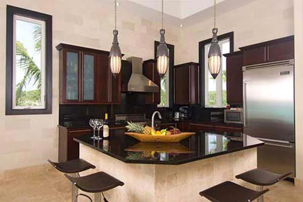 Kitchen at Villa IE BAL (Balinese) at Turks & Caicos, Turtle Tail, Family-Friendly Villa, Pool, 3 Bedrooms, 3 Bathrooms, WiFi, WIMCO Villas