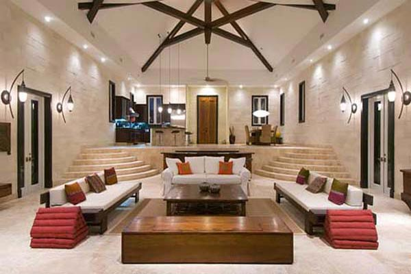 Living Room at Villa IE BAL (Balinese) at Turks & Caicos, Turtle Tail, Family-Friendly Villa, Pool, 3 Bedrooms, 3 Bathrooms, WiFi, WIMCO Villas
