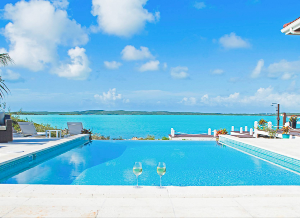 The view from WIMCO Villa IE BAS (Bashert) at Chalk Sound/Taylors, Turks & Caicos