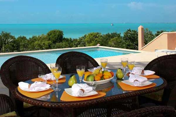Dining Room at Villa IE MBH (Blue Heaven) at Turks & Caicos, Sapodilla Bay, Family-Friendly Villa, Pool, 3 Bedrooms, 4 Bathrooms, WiFi, WIMCO Villas