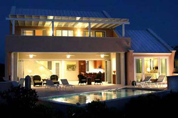 Exterior of Villa IE MBH (Blue Heaven) at Turks & Caicos, Sapodilla Bay, Family-Friendly Villa, Pool, 3 Bedrooms, 4 Bathrooms, WiFi, WIMCO Villas