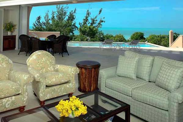 Living Room at Villa IE MBH (Blue Heaven) at Turks & Caicos, Sapodilla Bay, Family-Friendly Villa, Pool, 3 Bedrooms, 4 Bathrooms, WiFi, WIMCO Villas