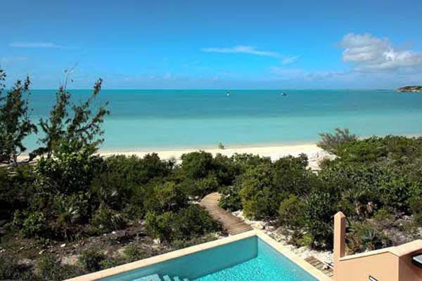 The view from Villa IE MBH (Blue Heaven) at Turks & Caicos, Sapodilla Bay, Family-Friendly Villa, Pool, 3 Bedrooms, 4 Bathrooms, WiFi, WIMCO Villas