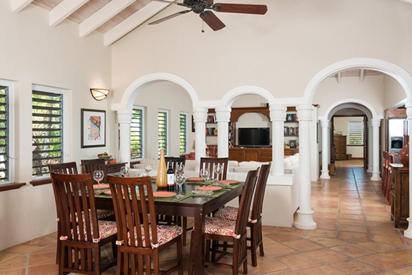 Dining Room at Villa IE PMO (Palermo) at Turks & Caicos, Turtle Tail, Family-Friendly Villa, Pool, 4 Bedrooms, 4 Bathrooms, WiFi, WIMCO Villas
