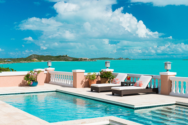 The view from Villa IE PMO (Palermo) at Turks & Caicos, Turtle Tail, Family-Friendly Villa, Pool, 4 Bedrooms, 4 Bathrooms, WiFi, WIMCO Villas