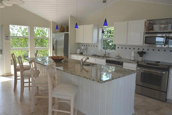 Kitchen at Villa IE SRV (Serene) at Turks & Caicos, Chalk Sound/Taylors, Family-Friendly Villa, Pool, 2 Bedrooms, 3 Bathrooms, WiFi, WIMCO Villas