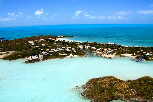 Aerial photo of Villa NEP CNL (Neptune Villas - Canal View) at Turks & Caicos, Chalk Sound/Taylors, Family-Friendly Villa, 2 Bedrooms, 2 Bathrooms, WiFi, WIMCO Villas
